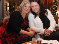 Noelle O'Grady O'Neill and Mags O'Grady at the Fels Point Hotel Women's Christmas Celebration. Photo by Dermot Crean