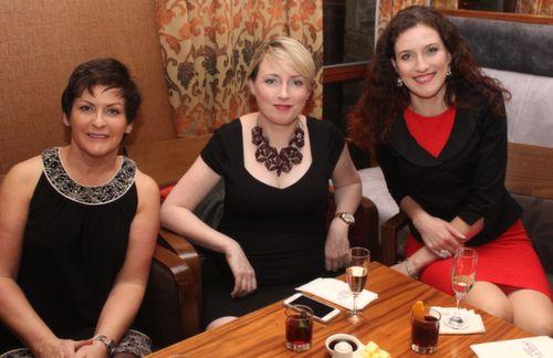 Oonagh O'Gara, Erin Farrell and Suzan O'Gara at the Fels Point Hotel Women's Christmas Celebration. Photo by Dermot Crean