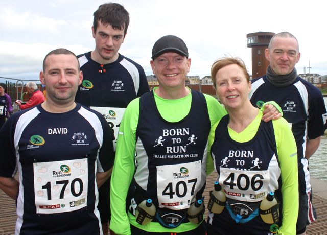 David Hughes, David O'Connor, Brian White, Lorna White and Denis McCarthy at the Tralee Valentine 10 Mile Road Race from Tralee Wetlands on Sunday morning. Photo by Dermot Crean