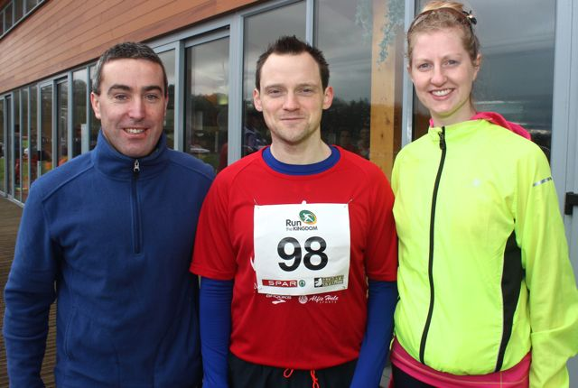 William Brick, Shane Edwards and Alice Fitzgerald at the Tralee Valentine 10 Mile Road Race from Tralee Wetlands on Sunday morning. Photo by Dermot Crean