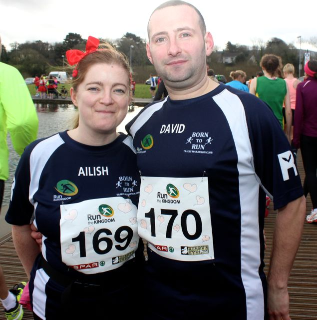 Ailish and David Hughes at the Tralee Valentine 10 Mile Road Race from Tralee Wetlands on Sunday morning. Photo by Dermot Crean