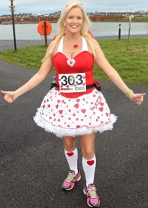 Marilyn O'Shea at the Tralee Valentine 10 Mile Road Race from Tralee Wetlands on Sunday morning. Photo by Dermot Crean