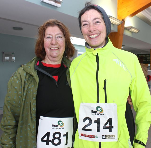 Eileen Hayes and Eileen Lovett at the Tralee Valentine 10 Mile Road Race from Tralee Wetlands on Sunday morning. Photo by Dermot Crean