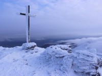 The cross at the summit of Carrauntoohil. Photo by Tim Galvin.