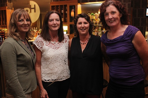 At the Kerry Masters Basketball Tournament function on in the Ballyroe Heights Hotel were, from left: Marie Horgan, Bernie Lillis, Caroline Forde and Rose Breen. Photo by Gavin O'Connor.