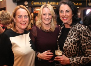 Jackie O'Brien, Tracey Hurley and Deirdre McAuliffe at the St Brendan's Park Reunion Night in the Austin Stack Clubhouse on Friday night. Photo by Dermot Crean