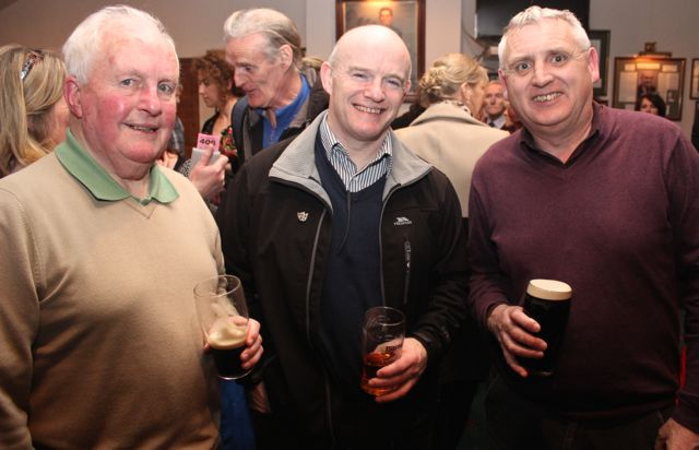 Fred Lynch, Rory O'Mahony and Dermot Sugrue at the St Brendan's Park Reunion Night in the Austin Stack Clubhouse on Friday night. Photo by Dermot Crean