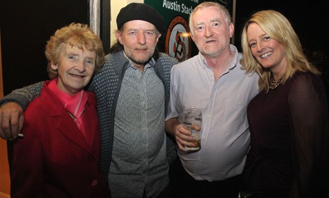 Joanie Barry, Niall Carey, David Diggins and Tracey Hurley at the St Brendan's Park Reunion Night in the Austin Stack Clubhouse on Friday night. Photo by Dermot Crean