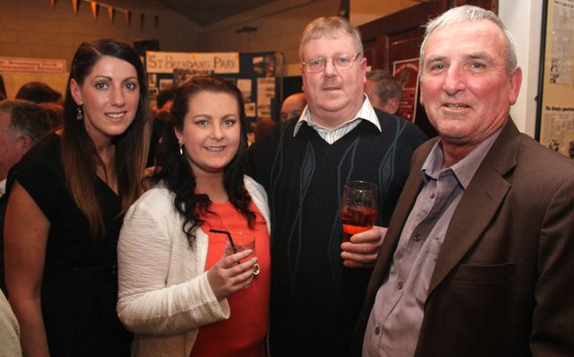 Orla O'Byrne, Shauna Moriarty, Pat Keane and Mike Lenihanat the St Brendan's Park Reunion Night in the Austin Stack Clubhouse on Friday night. Photo by Dermot Crean