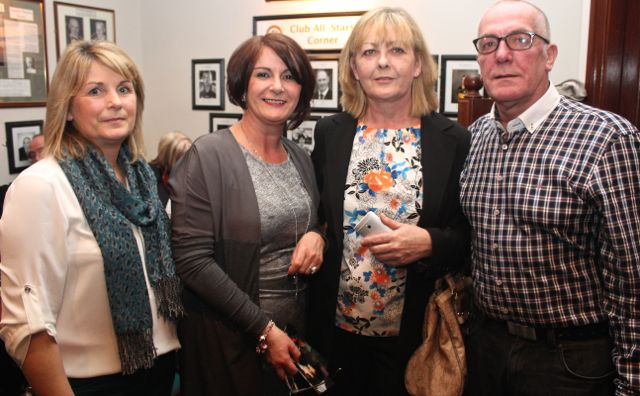 Tina Sugrue, Noelle Reidy, Helen Naughton McElligott and Jeremiah Naughton at the St Brendan's Park Reunion Night in the Austin Stack Clubhouse on Friday night. Photo by Dermot Crean