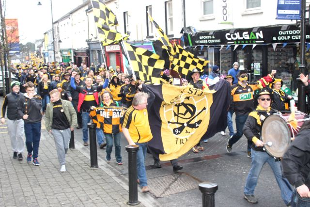 Rockies making their way through the streets of Portlaoise on Sunday. Photo by Dermot Crean