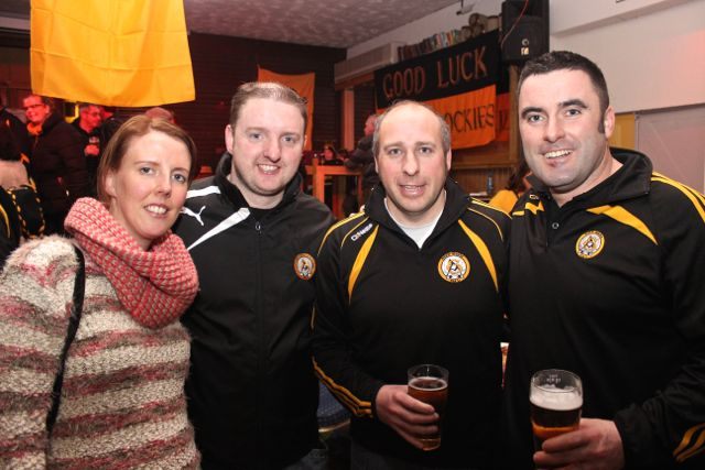 Mary Lehane, Philip Lehane, Francis Roche and Philip Moriarty  at O'Loughlin's Hotel in Portlaoise prior to the game on Sunday. Photo by Dermot Crean