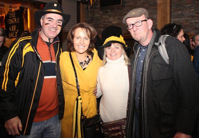 Mark Teahon, Sandra Leahy, Eilish O'Brien and Neilus O'Shea at O'Loughlin's Hotel in Portlaoise prior to the game on Sunday. Photo by Dermot Crean