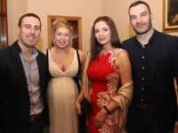 John O'Connor, Kelly Ann Roantree, Maura O'Connor and Barry O'Shea at the Kerins O'Rahilly's GAA Club Social at the clubhouse on Saturday night. Photo by Dermot Crean