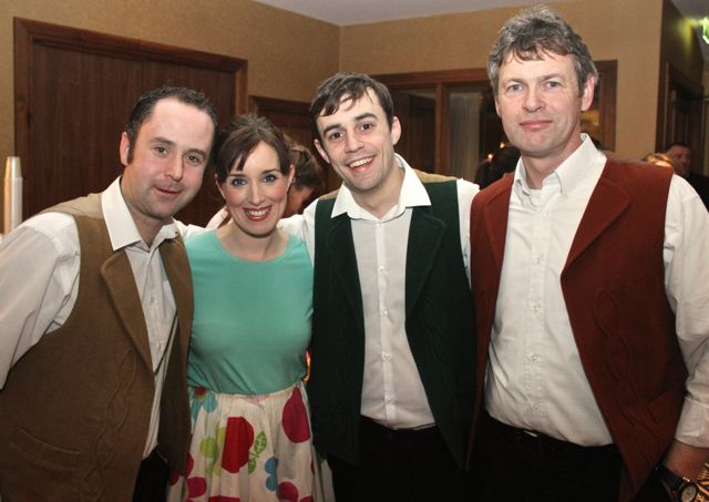 Jonathan Lynch, Laura Lee Murphy, Gary Murphy and Tim Moran at the 'Talent Of Tralee' fundraising concert on Friday night in the Fels Point Hotel. Photo by Dermot Crean