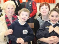 At 'Grandparents Day' in Gaelscoil Mhic Easmainn were, from left: Una and Pascal Buckley, Bernie O'Sullivan and Brian Hand. Photo by Gavin O'Connor.