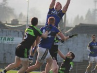 Tommy Walsh, fetches a ball high in the sky earlier in the year against Mayo in the National League.  Photo by Dermot Crean.
