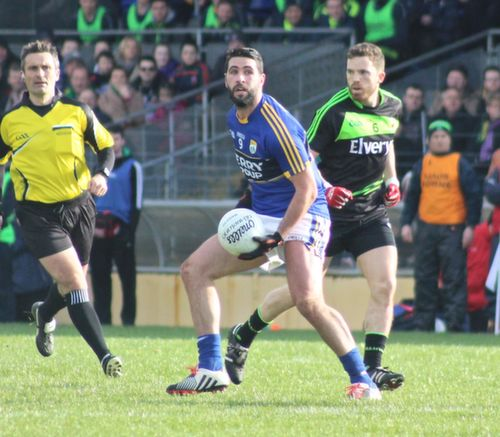 Bryan Sheehan about to make a pass during the Allianz League game between Kerry and Mayo at Killarney on Sunday. Photo by Dermot Crean