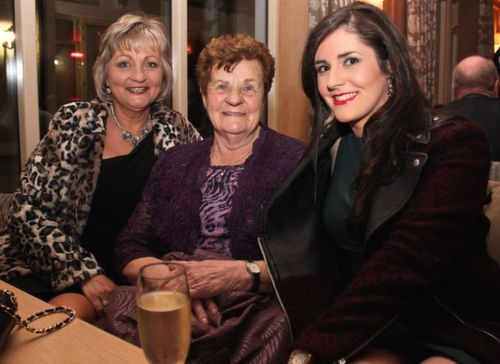 Margaret Nolan, Mary Daly and Aoife Counihan at the Lee Strand Social at Ballygarry House Hotel on Saturday night. Photo by Dermot Crean