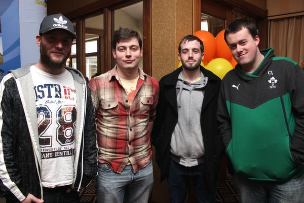 At the 'Live Life Love Concert' were, from left: Colm Gurnett, John O'Shea, Phil Ahern and Damian Ruddy. Photo by Gavin O'Connor.