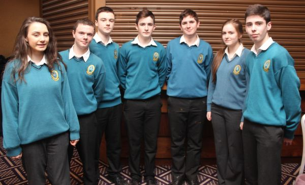Students of Mercy Mounthawk at the 'Live Life Love Concert' were, from left: Atlanta Kennedy, Brian Fox, Ben Kavanagh, Kelan Pierse, Diarmuid Barry, Jerri O'Brien and Dean Meehan. Photo by Gavin O'Connor.