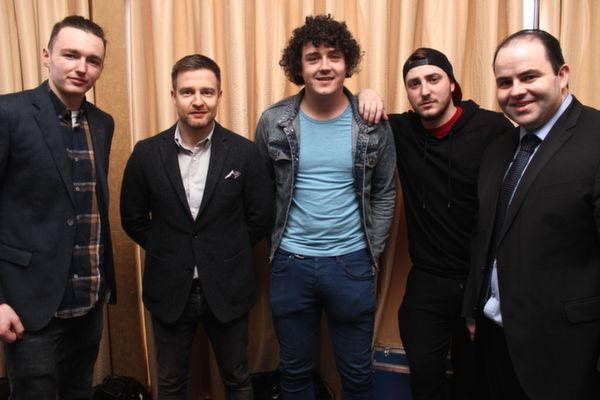 At the 'Live Life Love Concert' were, from left: Bernard O'Connor, Aidan Power, John O'Connor, Jay Dalligan and Edmund Harty. Photo by Gavin O'Connor.