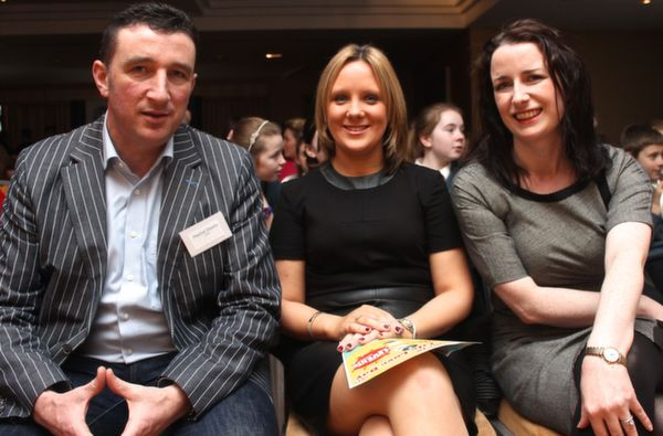 At the 'Live Life Love Concert' were, from left: Paschal Sheehy, Mary Mulvahill and Lisa Herlihy. Photo by Gavin O'Connor.
