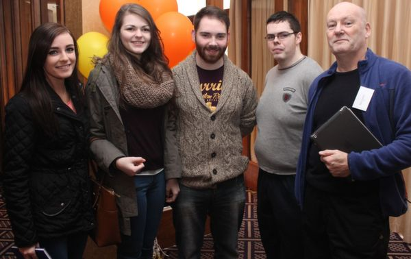 At the 'Live Life Love Concert' were, from left: Dervla Murphy, Caleigh Donnegan, Daniel Buckley, martin Lynch and Bob Corkui. Photo by Gavin O'Connor.