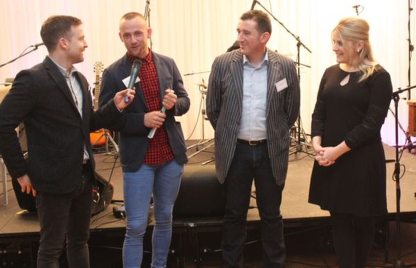 At the 'Live Life Love Concert' were, from left: Aidan Power, Barry John Keane, Paschal Sheehy and Alison Nulty. Photo by Gavin O'Connor.