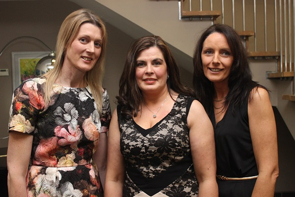At the Kerry Masters Basketball Tournament function on in the Ballyroe Heights Hotel were, from left: Alma O'Connor, Teresa Leonard and Maura McMahon. Photo by Gavin O'Connor.