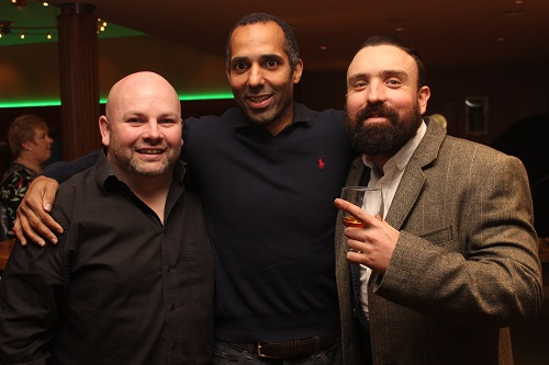 At the Kerry Masters Basketball Tournament function on in the Ballyroe Heights Hotel were, from left: Paul Kennedy, Matthew Hall, Paraig Locke. Photo by Gavin O'Connor.