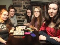 At the Kerry School of Music table quiz were, from left: Catriona  Fitzmaurice, Doireann O'Carroll, Muireann O'Mahony, Anna Otto, Amy Quagani. Photo by Gavin O'Connor.
