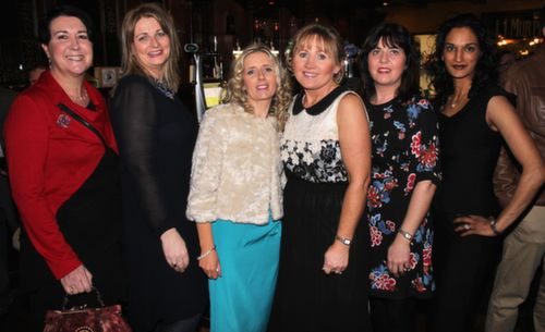Noelle Kingston, Pam McEneaney, Marie Dewey, Jacinta Bourke, Noreen Murphy and Ranjna O'Donovan at the Na Gaeil GAA Celebration Night at The Meadowlands Hotel on Saturday. Photo by Dermot Crean