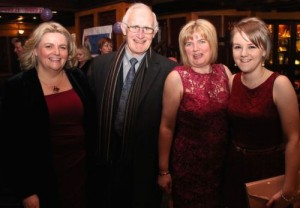 Na Gaeil GAA Club PRO, Theresa Kelliher, Chairperson Tim Lynch, Catherine O'Connor and Amy Cahill at the Na Gaeil GAA Celebration Night at The Meadowlands Hotel on Saturday. Photo by Dermot Crean
