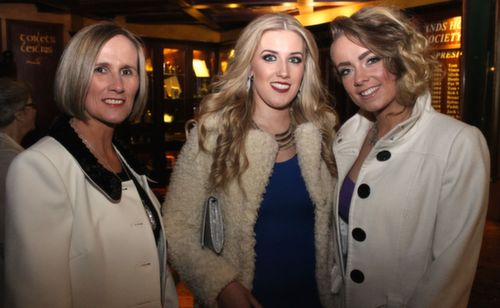 Avril Carmody, Cliodhna Carmody and Dearbhail Foley at the Na Gaeil GAA Celebration Night at The Meadowlands Hotel on Saturday. Photo by Dermot Crean