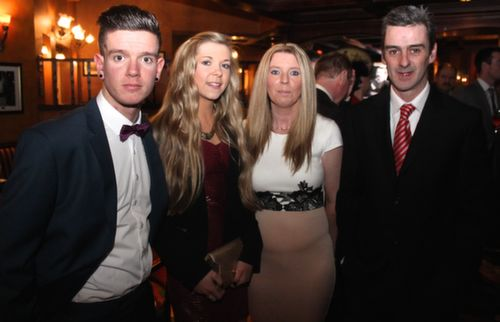 Darren Burns, Nicole Carey, Denise and Mike Burns at the Na Gaeil GAA Celebration Night at The Meadowlands Hotel on Saturday. Photo by Dermot Crean