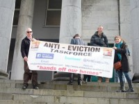 Anti-Eviction Taskforce Protests At Tralee Court