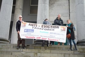 Anti-Eviction Taskforce protesors outside Tralee Courthouse (Custom) (2)