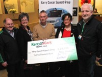 At the cheque handover of €20,000 to Kerry Cancer Link Bus were, from left:  . Photo by Gavin O'Connor.