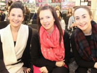 Janet Leahy, Laura Cunningham and Lisa McCarthy at the Elite Make-Up Masterclass with Fortunato Benavoli at CH Chemists on Friday evening. Photo by Dermot Crean