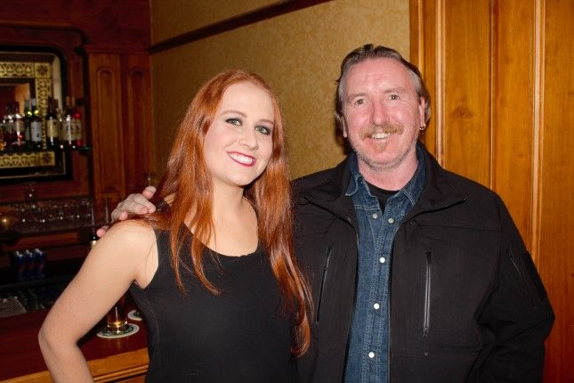 Ciara and Patrick Kelly at the Q14 gig in The Meadowlands Hotel on Friday. Photo by Oscar Brophy