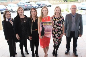 At the Fashion Fusion launch at the Fels Point Hotel were, from left: Collate Nolan, Katrina Lucid, Ilene Whelan, Kristin McKenzie Vass, Orla  Diffily and John Lucid. Photo by Gavin O'Connor.
