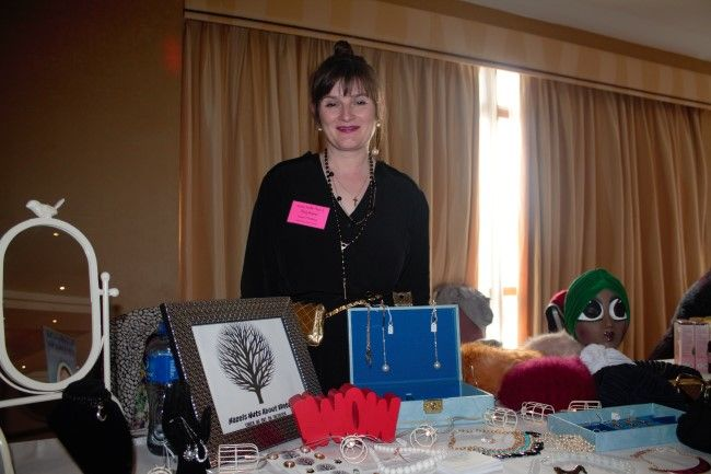 Hazel O'Malley of Hazel's Nuts About Vintage at the fitness expo in the Fels Point Hotel on Saturday. Photo by Oscar Brophy