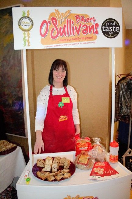 Helen O'Sullivan of O'Sullivan's Bakery at the fitness expo in the Fels Point Hotel on Saturday. Photo by Oscar Brophy