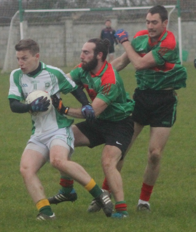 Action from Na Gaeil v Beale in the county league. Photo by Gavin O'Connor.
