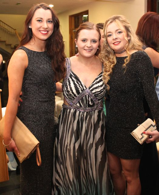 Raissa Smyth, Chloe Kelliher and Aisling O'Neill at the IT Tralee Students Ball at the Ballyroe Heights Hotel on Wednesday night. Photo by Dermot Crean