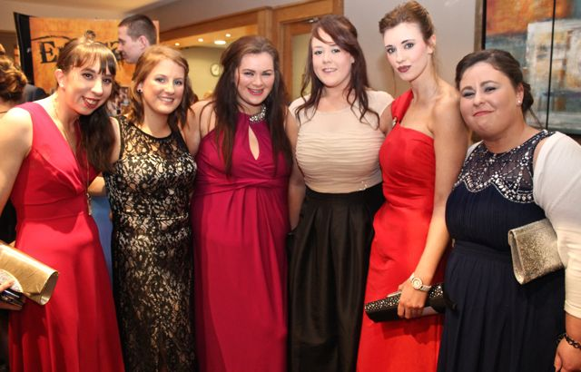 Marian Casey, Natasha O'Brien, Sarah O'Keeffe, Cork, Eilish Clifford, Sarah Holden and Sinead O'Connell at the IT Tralee Students Ball at the Ballyroe Heights Hotel on Wednesday night. Photo by Dermot Crean