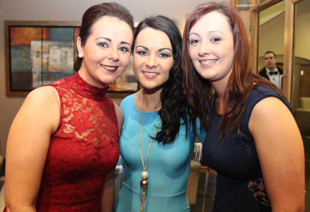 Aileen Moynihan, Louise Nagle and Lauren Murphy at the IT Tralee Students Ball at the Ballyroe Heights Hotel on Wednesday night. Photo by Dermot Crean