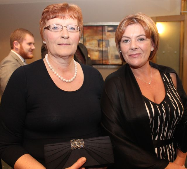 Mary T Flynn and Sandra O'Sullivan of Horan's Nightclub at the IT Tralee Students Ball at the Ballyroe Heights Hotel on Wednesday night. Photo by Dermot Crean