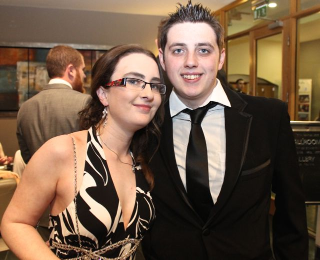Emma Callanan and Craig O'Donnell at the IT Tralee Students Ball at the Ballyroe Heights Hotel on Wednesday night. Photo by Dermot Crean